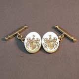 9ct gold coat of arms cufflinks