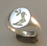 Arm with thistle Seal Engraved Crest Signet Ring