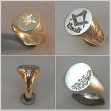 Optional extra's when ordering signet ring
